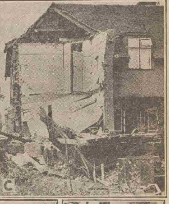 Bombed house